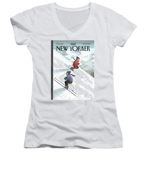 New Yorker January 24th, 2000 Women's V-Neck