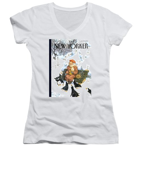New Yorker January 29th, 2001 Women's V-Neck
