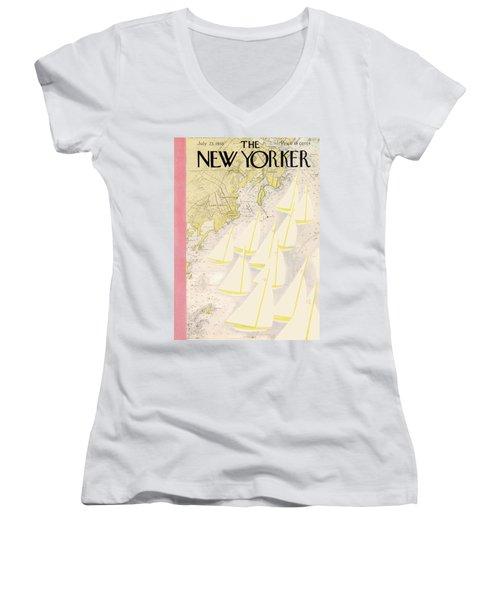 New Yorker July 23rd, 1938 Women's V-Neck