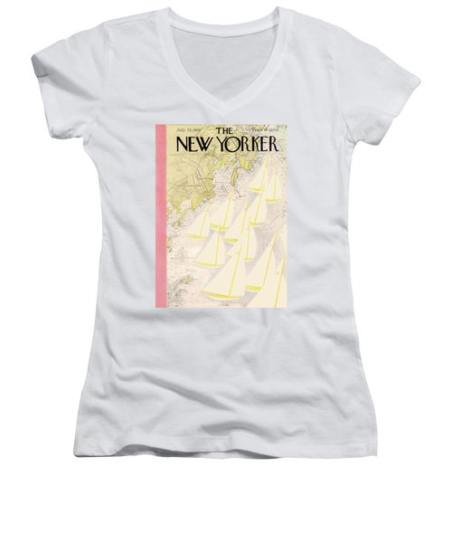 New Yorker July 23rd, 1938 Women's V-Neck