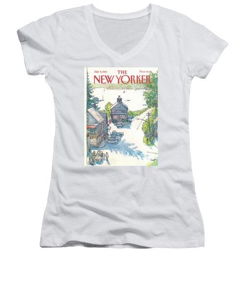New Yorker July 4th, 1983 Women's V-Neck