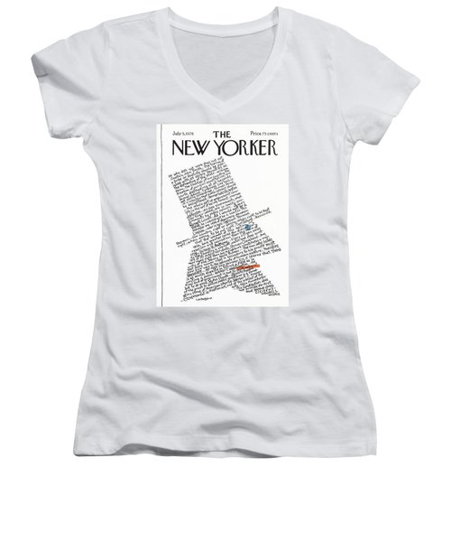 New Yorker July 5th, 1976 Women's V-Neck