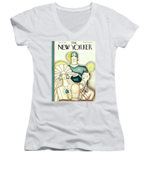 New Yorker June 12 1926 Women's V-Neck