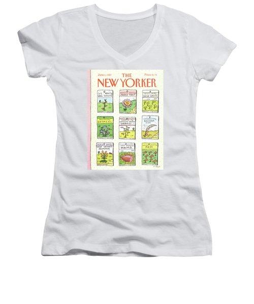New Yorker June 1st, 1987 Women's V-Neck