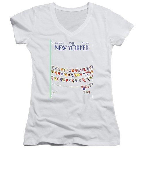 New Yorker June 3rd, 1985 Women's V-Neck