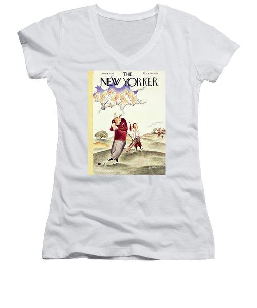 New Yorker June 6 1936 Women's V-Neck