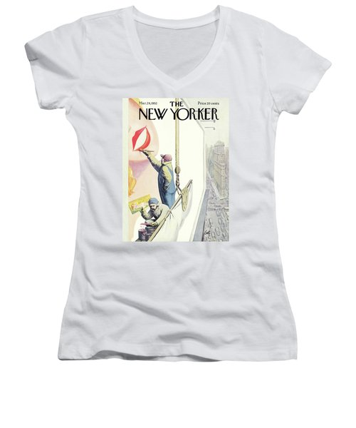 New Yorker March 29th, 1952 Women's V-Neck