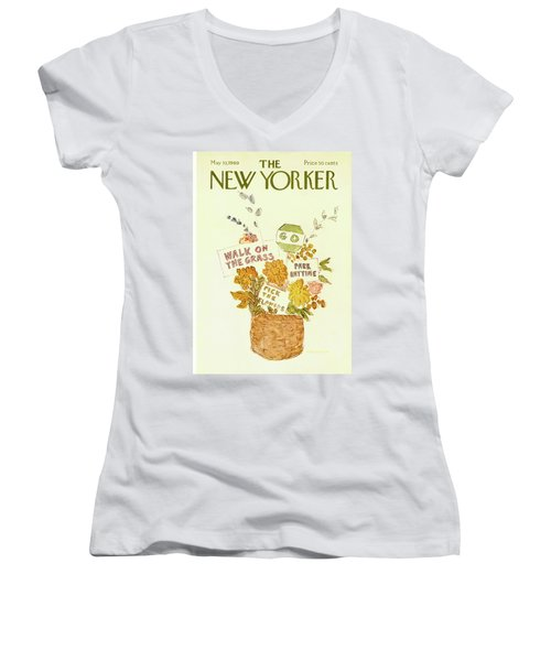 New Yorker May 10th, 1969 Women's V-Neck