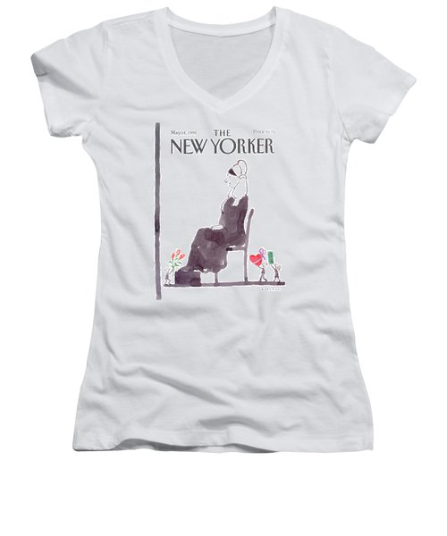 New Yorker May 14th, 1990 Women's V-Neck