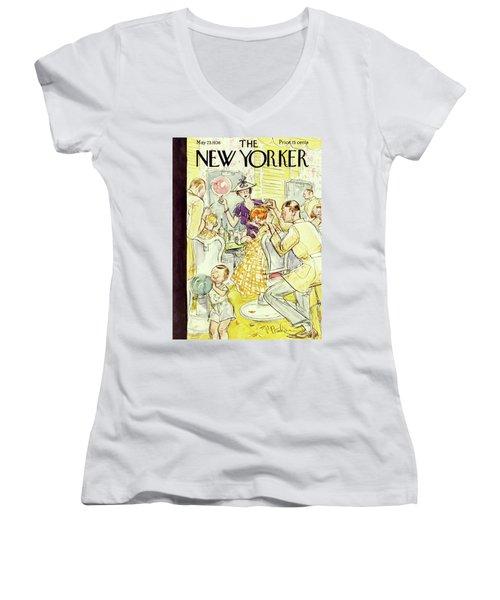 New Yorker May 23 1936 Women's V-Neck