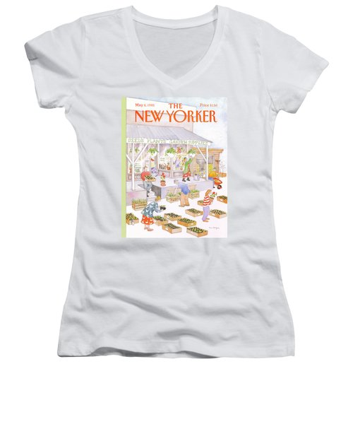 New Yorker May 6th, 1985 Women's V-Neck