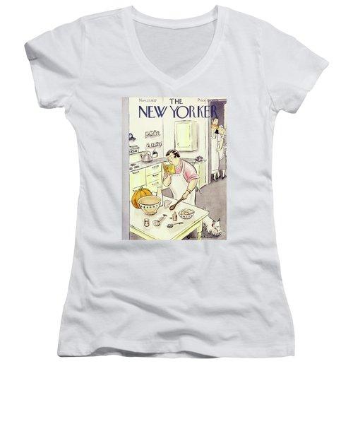 New Yorker November 27 1937 Women's V-Neck