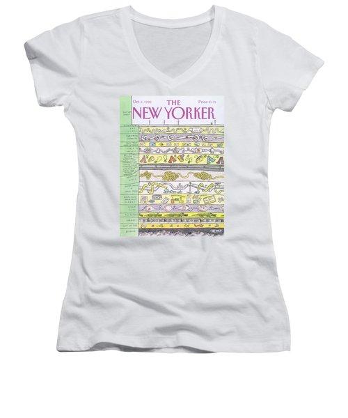 New Yorker October 1st, 1990 Women's V-Neck