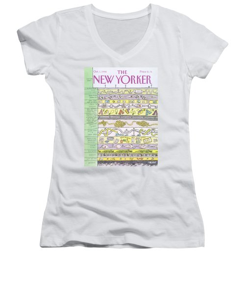 New Yorker October 1st, 1990 Women's V-Neck