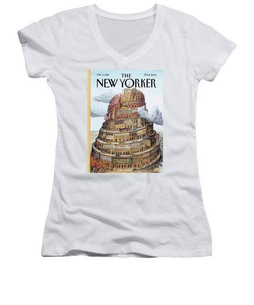 New Yorker October 2nd, 1995 Women's V-Neck