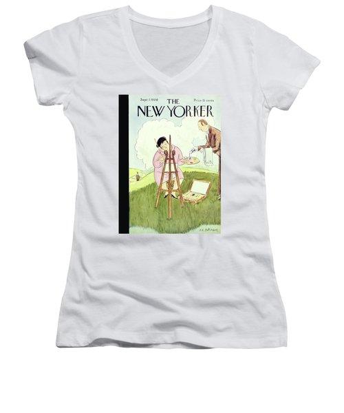 New Yorker September 1 1928 Women's V-Neck