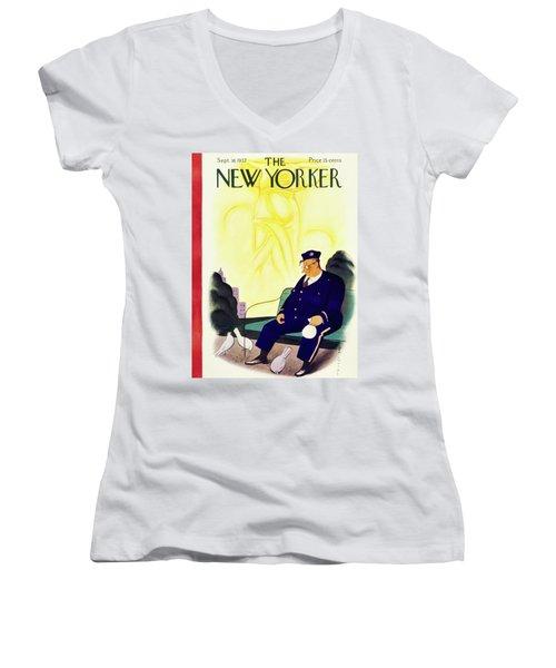 New Yorker September 18 1937 Women's V-Neck