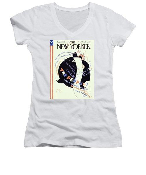 New Yorker September 24 1932 Women's V-Neck