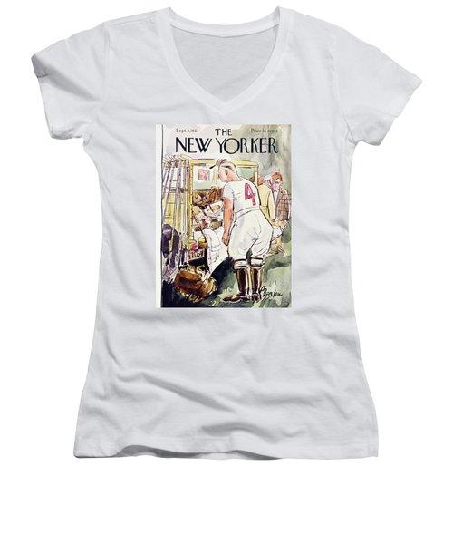 New Yorker September 4 1937 Women's V-Neck