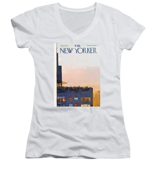 New Yorker September 5th, 1970 Women's V-Neck