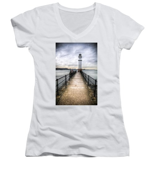 Newhaven Lighthouse Women's V-Neck (Athletic Fit)