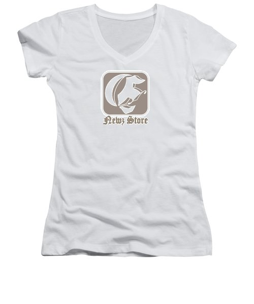 Eclipse Newspaper Store Logo Women's V-Neck (Athletic Fit)