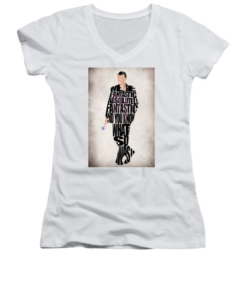 Ninth Doctor - Doctor Who Women's V-Neck