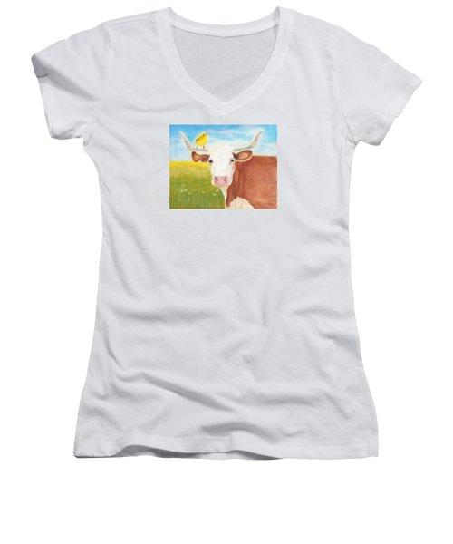 No Tree Necessary Women's V-Neck T-Shirt
