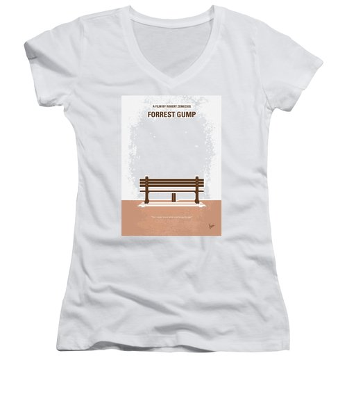 No193 My Forrest Gump Minimal Movie Poster Women's V-Neck