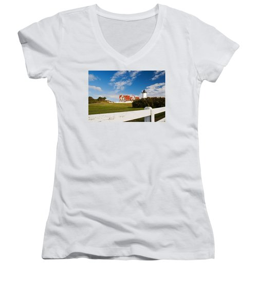 Nobska Point Lighthouse Women's V-Neck