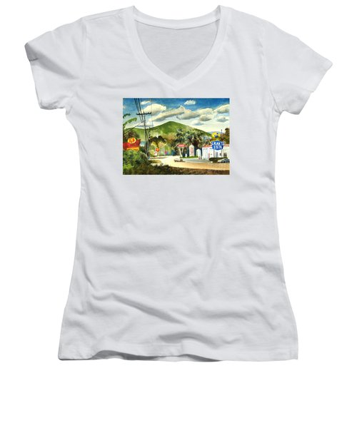 Nostalgia Arcadia Valley 1985  Women's V-Neck