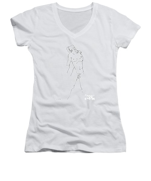 Nude-male-drawing-11 Women's V-Neck