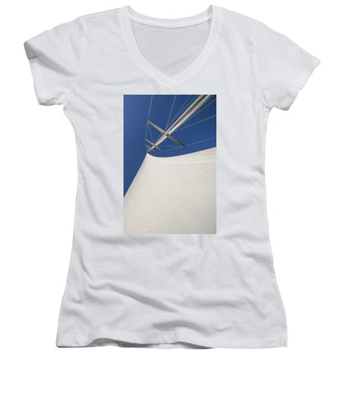 Obsession Sails 4 Women's V-Neck (Athletic Fit)