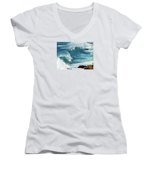 Ocean Majesty Women's V-Neck (Athletic Fit)