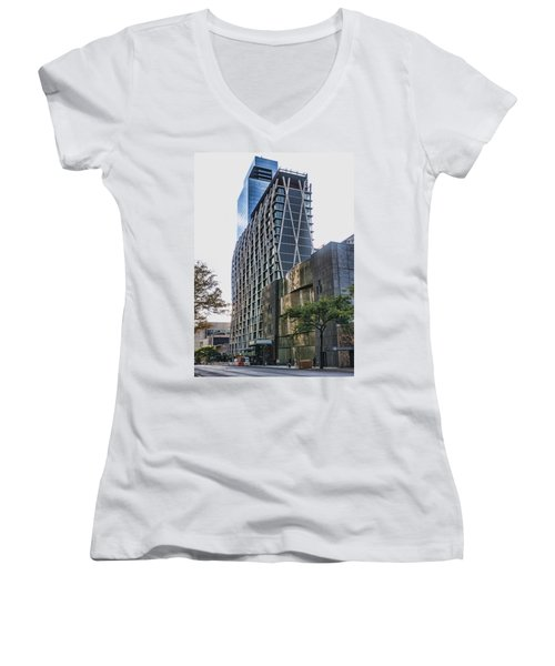 Oct 2014 Ne View Women's V-Neck T-Shirt (Junior Cut) by Steve Sahm