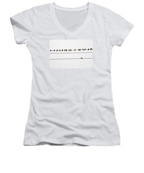 Odd Man Out Women's V-Neck T-Shirt