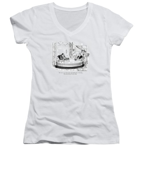 Of Course, You Realize That Respectability Women's V-Neck