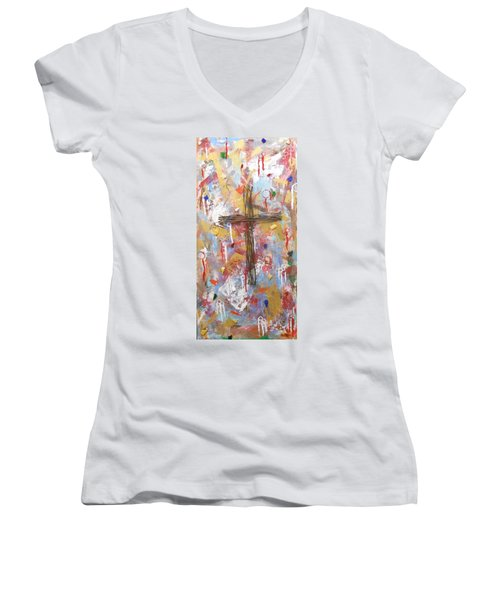 Oh Heavenly Father Women's V-Neck (Athletic Fit)
