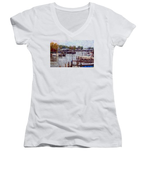 Women's V-Neck T-Shirt (Junior Cut) featuring the photograph Olcott by Tammy Espino