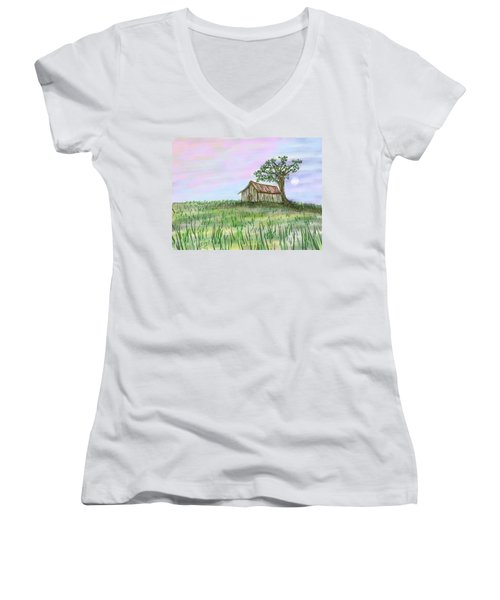 Old Barn Women's V-Neck (Athletic Fit)