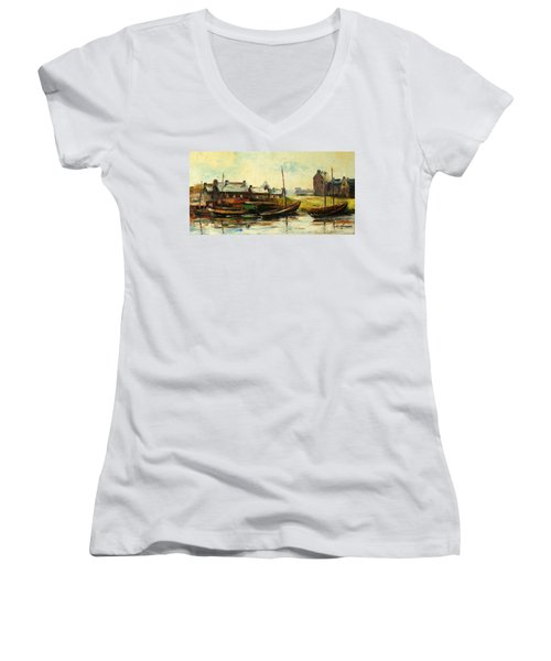 Old Fisherman's Village Women's V-Neck (Athletic Fit)