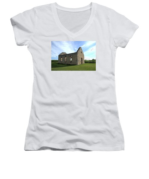 Old Stone Church 2 Women's V-Neck T-Shirt