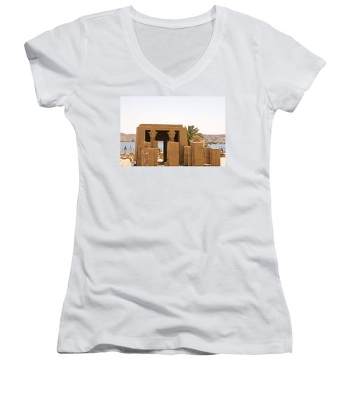 Old Structure 2 Women's V-Neck T-Shirt