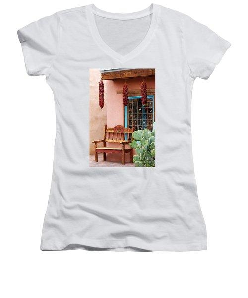 Old Town Albuquerque Shop Window Women's V-Neck (Athletic Fit)