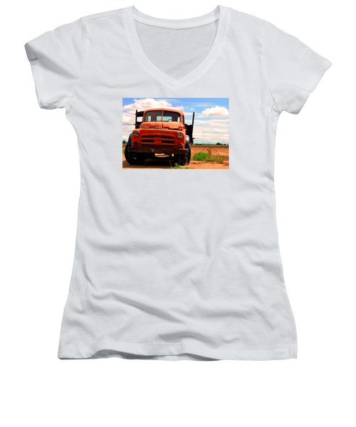 Old Truck Women's V-Neck (Athletic Fit)