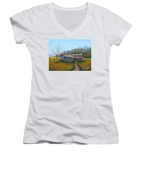 Old Walker Homestead #2 Women's V-Neck T-Shirt