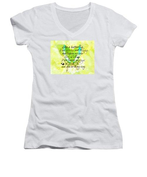 On My Way Women's V-Neck T-Shirt