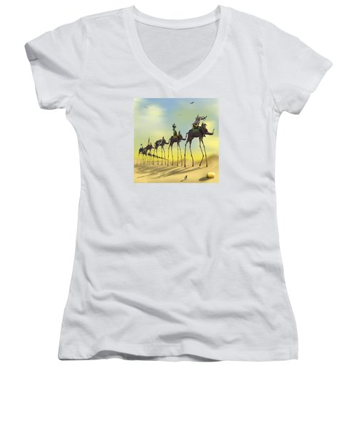On The Move 2 Without Moon Women's V-Neck T-Shirt