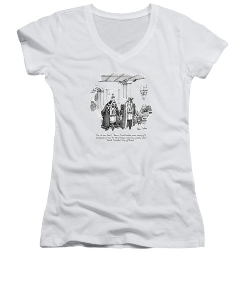 On The One Hand Women's V-Neck