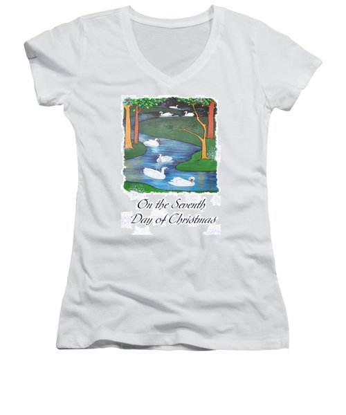 On The Seventh Day Of Christmas Women's V-Neck T-Shirt